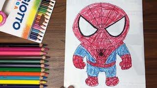 Dạy bé vẽ và tô màu người nhện