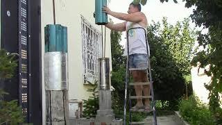 Этап 1 Изготовление бетонных колонн в загородном доме. Основные этапы изготовления крыльца в дом.