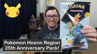 Pokémon Hoenn Region 25th Anniversary Jumbo Card Packs