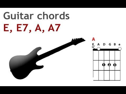 E, A, E7 and A7 beginner guitar chords - guitarguitar.net - YouTube