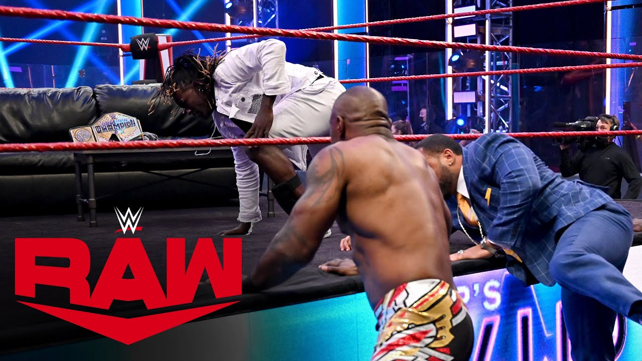 "R-Truth crashes MVP's ""VIP Lounge"" interview with Mustafa Ali: Raw, July 27, 2020"