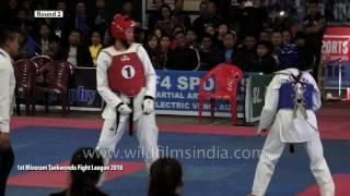 Taekwondo Fight League match in India