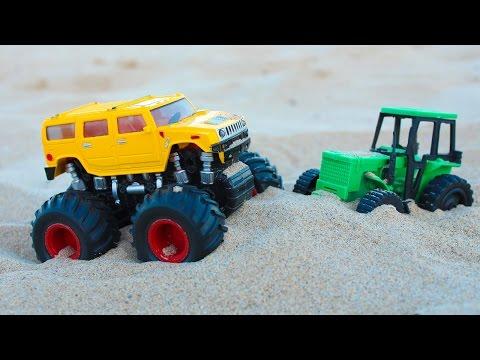 Монстр трак трактор мультфильм