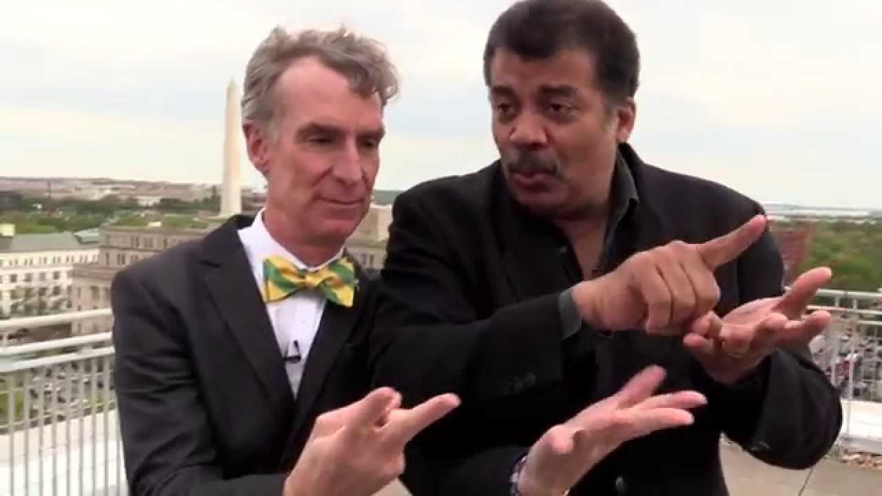 Image result for Neil degrasse Tyson and; Bill Nye
