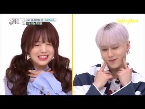 yong junhyung aegyo in weekly idol
