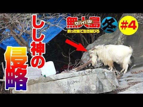 「真冬の無人島」2泊3日釣った魚で0円サバイバル生活#4