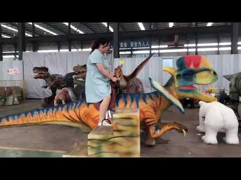 Dinosaur Theme Park Animatronic Dinosaur Rides Moving ...