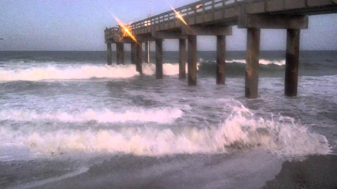 Fishing pier at saint augustine beach youtube for St augustine fishing pier