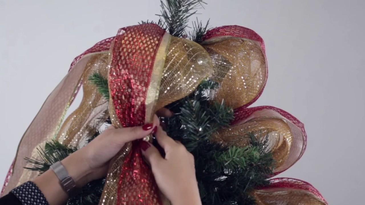 Pasos Para Decorar Arbol Navideno.Como Decorar El Arbol De Navidad Cintas