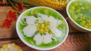 Cách nấu Chè Bắp (Chè Ngô) Trân châu nước cốt dừa cực ngon