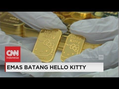 Lucunya Emas Batang Hello Kitty Youtube