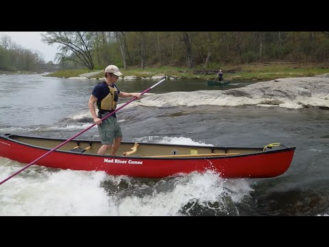 Canoe poling with Hal, Carp, and Ethan on the Lamoille River