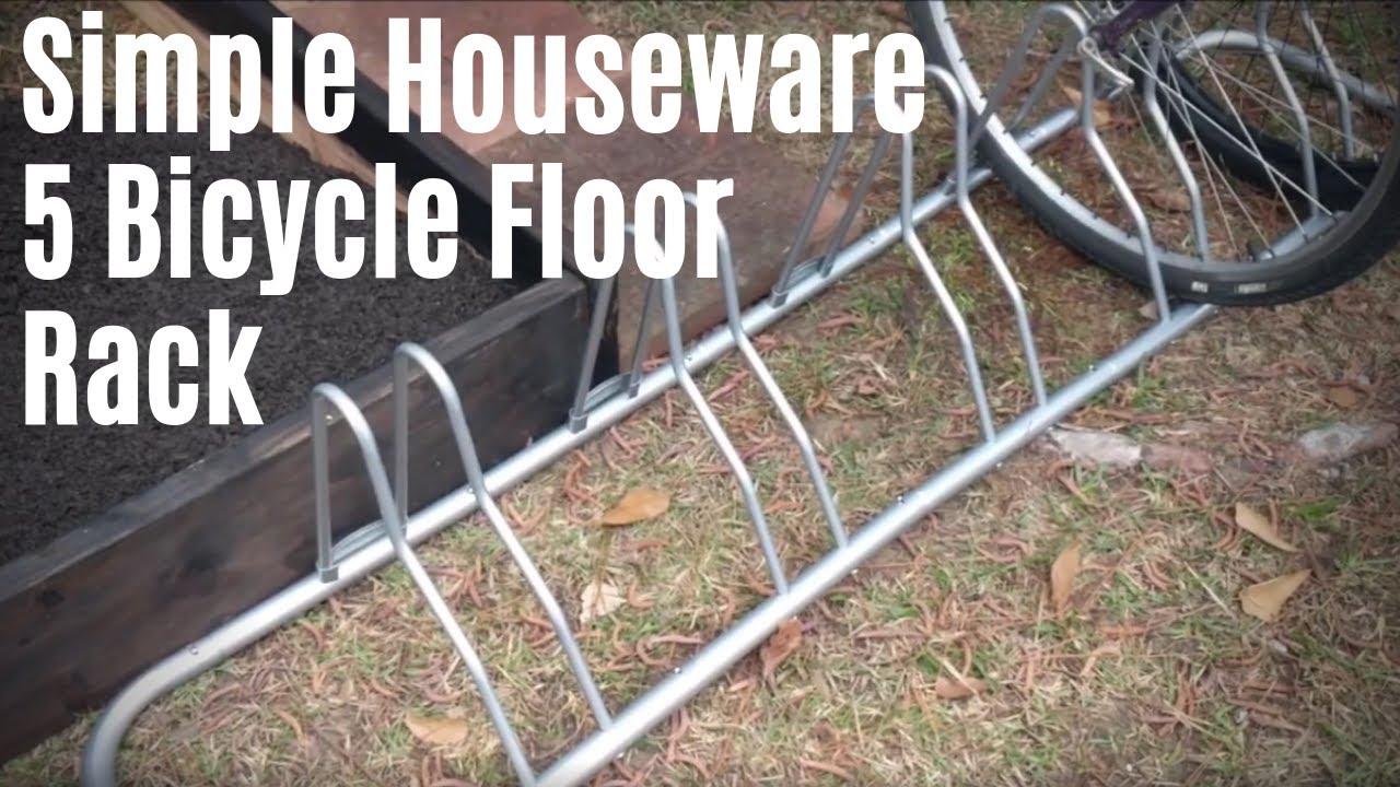 simple houseware 5 bicycle floor rack review and setup ground bike mount