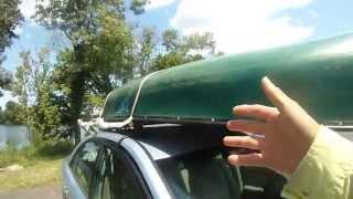 Canoe roof rack - part 2 of 2 - old town canoe