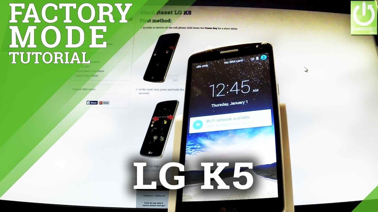 How to Enter Factory Mode in LG K5 - Enter / Quit Test Mode