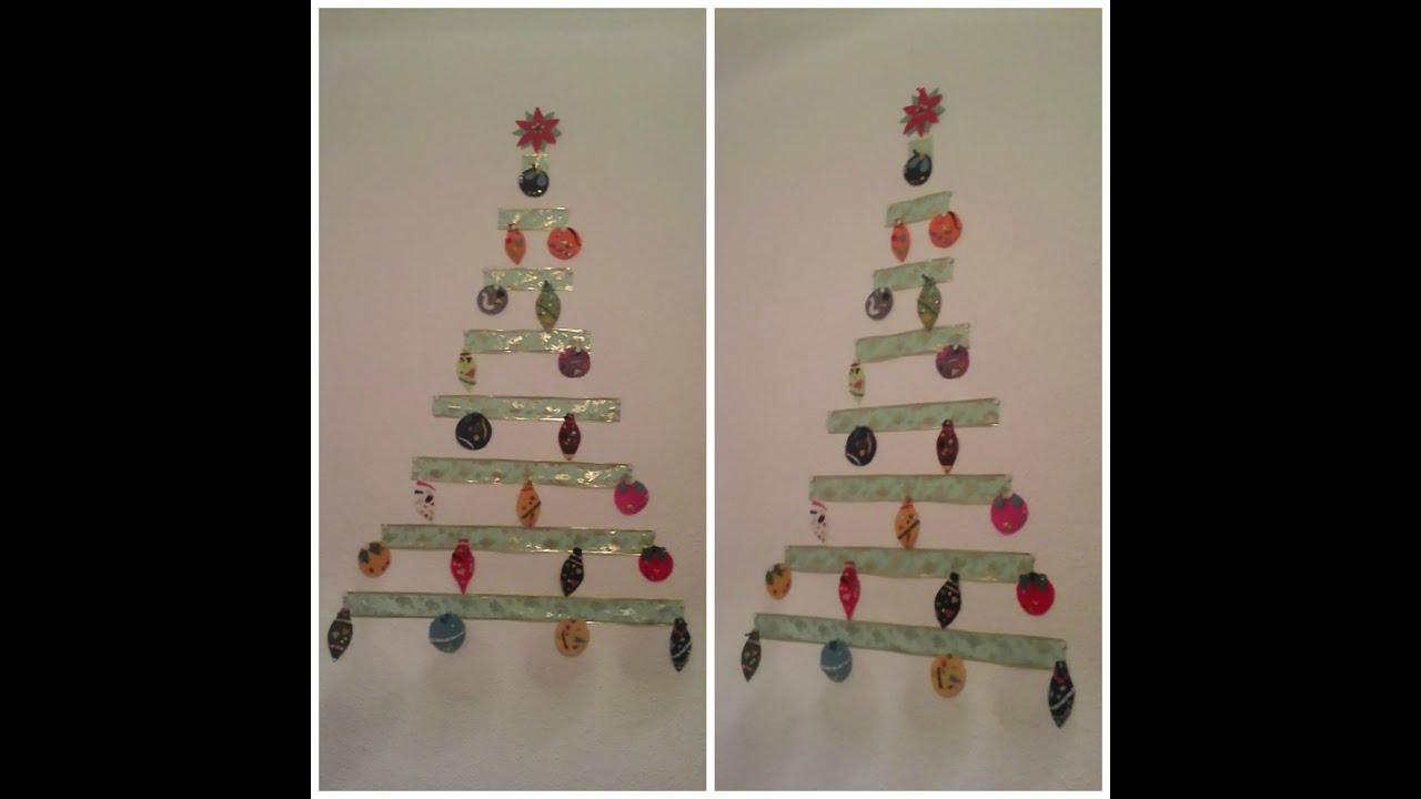 Rbol de navidad para pared manualidad navivlog 2014 - Arbol de navidad de pared ...