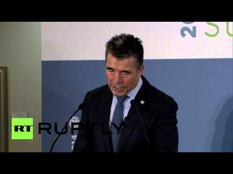 UK: NATO's Rasmussen speaks of 'Russian aggression', offers no evidence
