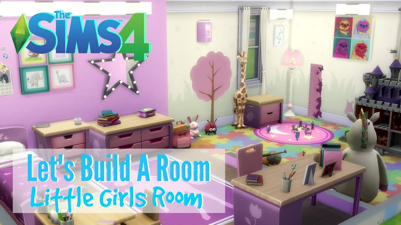 The Sims 4 : Letu0027s Build A Room   Little Girls Room   YouTube