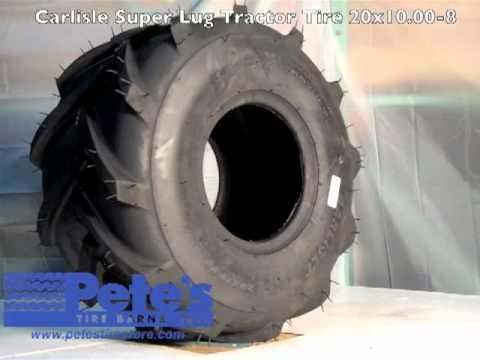 Carlisle Super Lug Tractor Tire 20x10 00 8 Youtube