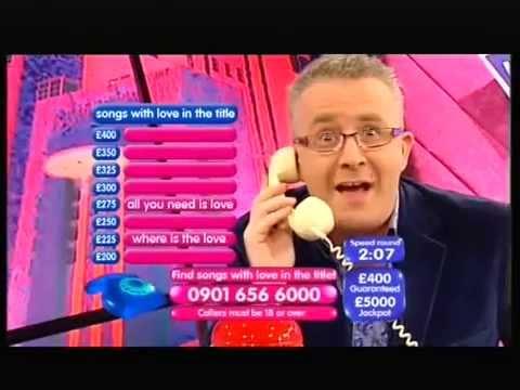 GREG SCOTT'S VERY FIRST QUIZMANIA ON ITV...
