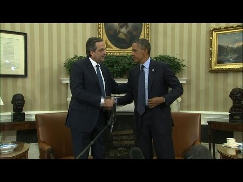 Obama reçoit le PM Grec Antonis Samaras à Washington
