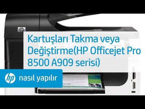 Kartuşları Takma Veya Değiştirme Hp Officejet Pro 8500