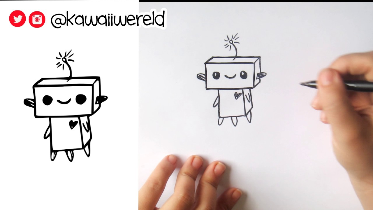 How To Draw A Super Easy Robot Cute Easy Youtube
