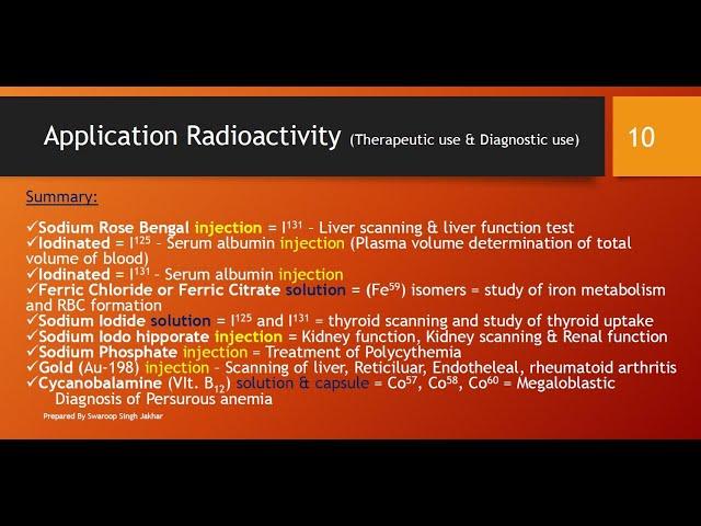 Measurement & SI Unit of Radioactivity, Application of Radiopharmaceutical | Part II