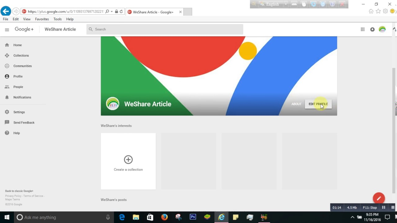 How to change google profile picture - YouTube