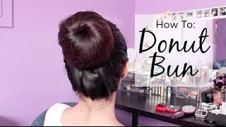 How To: Donut Bun in Under 5 Minutes! | For long, thick hair