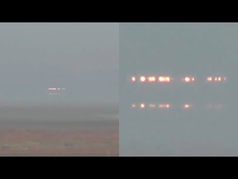 Incredible UFO Craft with Lights Captured over Krasnodar Reservoir in Russia