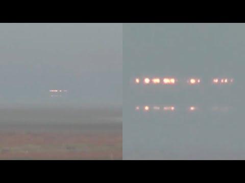 Incredible UFO Craft with Lights Captured over Krasnodar Reservoir in Russia