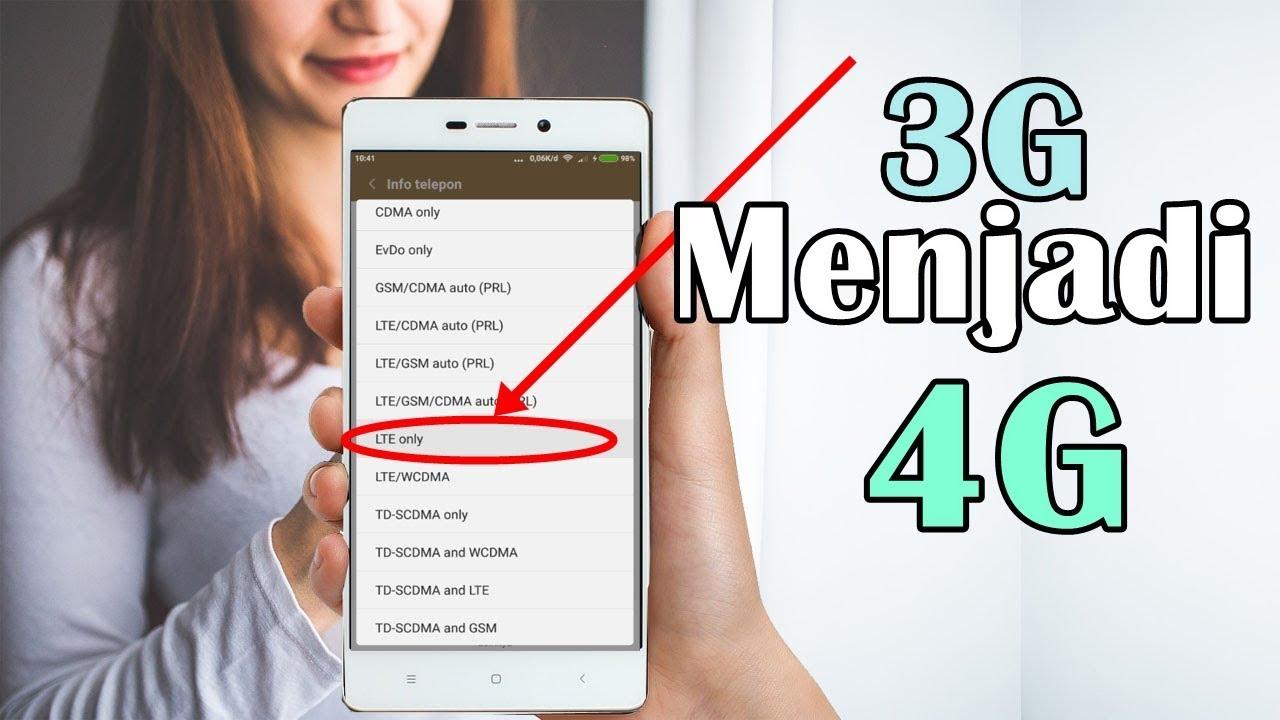 Cara Ampuh Mengubah Sinyal 3g Ke 4g Lte Only 100 Work Youtube