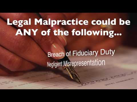 Florida Legal Malpractice - Suing an Attorney in West Palm Beach
