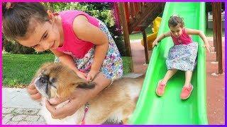 Prenses İsimli Köpeği Parkta Gezdirdik, Sevdik ve Kaydıraklardan Kaydık l Eğlenceli Çocuk Videosu