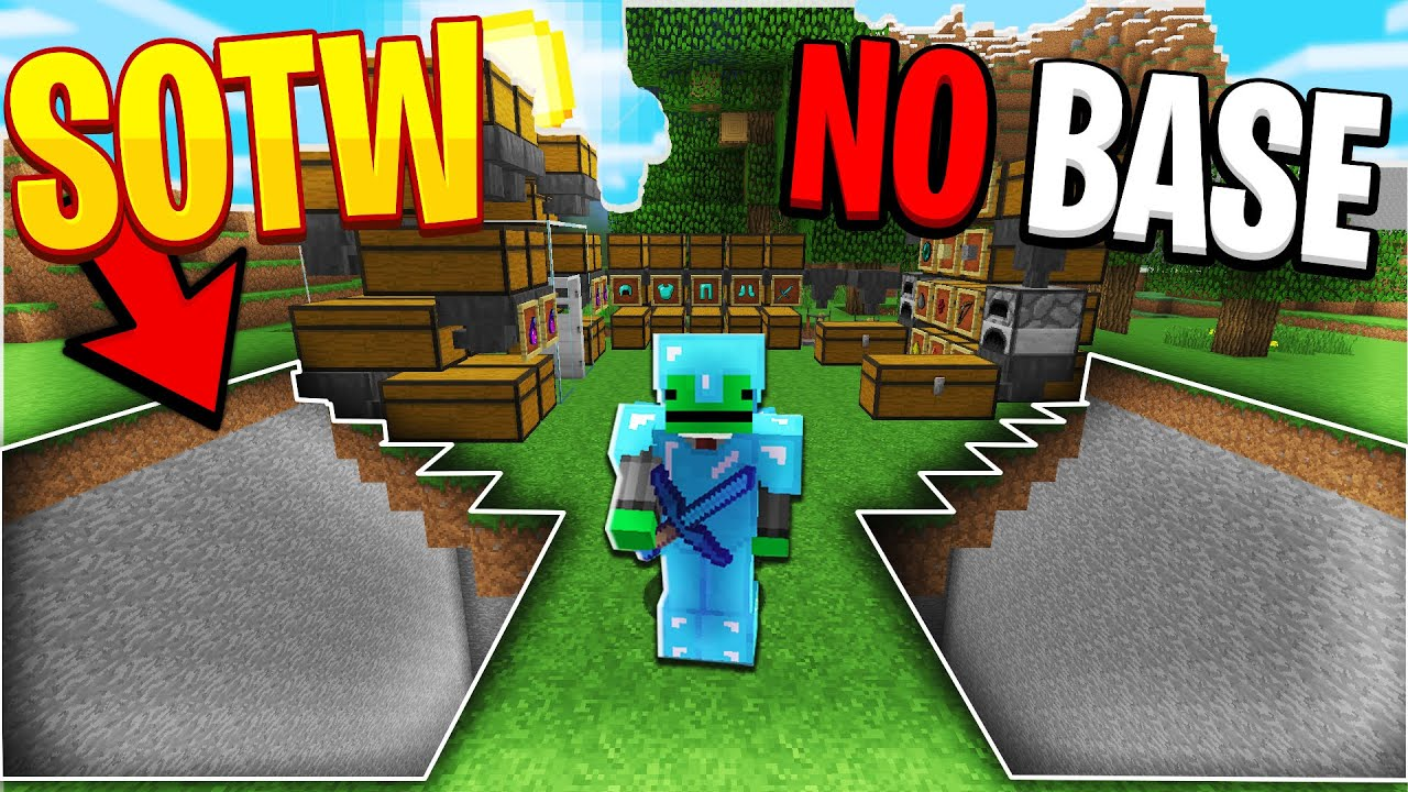 Living with NO BASE over a FALL TRAP! *SOTW* | Minecraft HCF