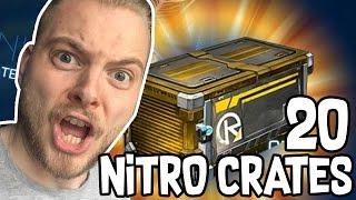 OPENING 20 NEW NITRO CRATES!! - ROCKET LEAGUE!