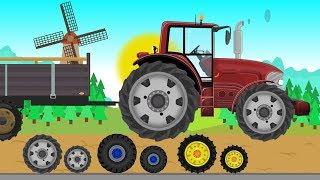 Tuning Tractor and Combine Harvester   Field work  Farmer   Czerwony Traktorek -  Praca na Farmie