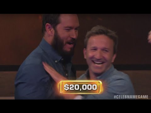 INCREDIBLE WIN by Breckin Meyer & Mark Paul Gosselaar  Celebrity Name Game