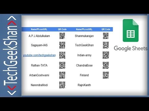 Bulk QR-Code Generate in Google Sheets | Save as PDF