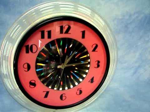 Large Kaleidoscope Wall Kitchen Clock Watch It Twinkle
