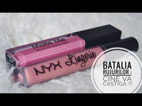 Nyx Lingerie Vs Sleek Matte Me Lupu Ioana Youtube