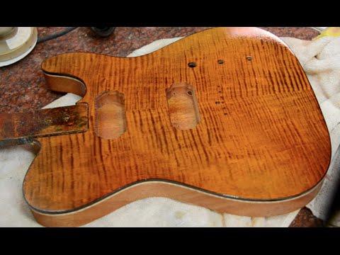 Finishing Guitar Body : joe perry boneyard finish on a tele hollowbody guitar body luthier how to youtube ~ Vivirlamusica.com Haus und Dekorationen
