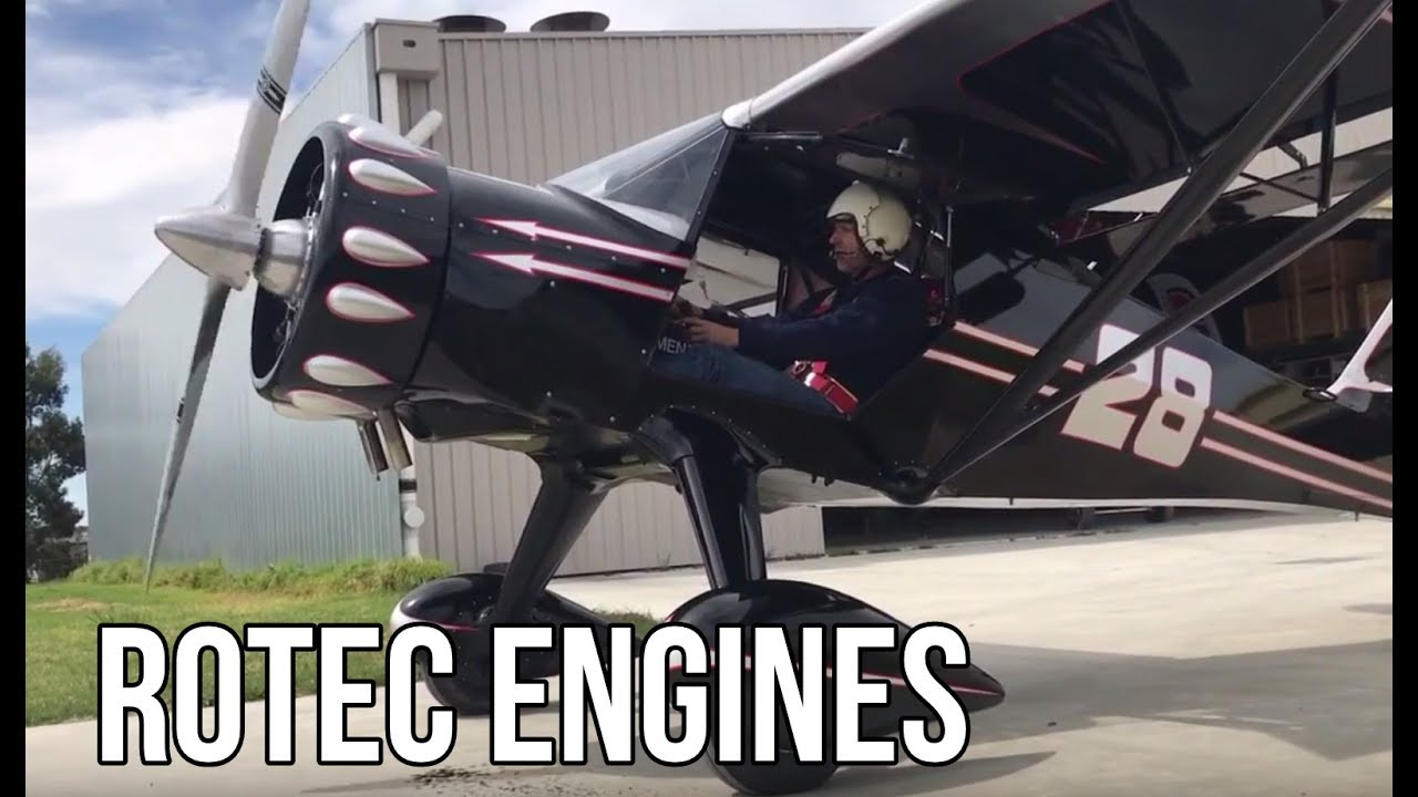 New Radial Engines For Vintage And Modern Airplanes - Rotec Radial Engines