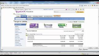Excel Financial Analysis - Import Income Statement from Yahoo Finance
