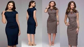 Spring Summer Women dress 2019 Review | Dot Print Slim Short Sleeve Office Business Dress