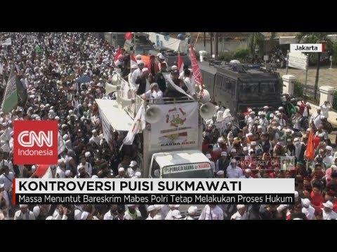 Ribuan Massa Ormas Menyemut Demo Puisi Sukmawati