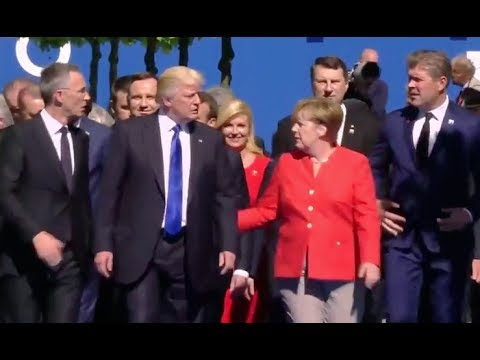 NATO Leaders At Unveiling Of Memorials for Berlin Wall And Article Five - Full Event