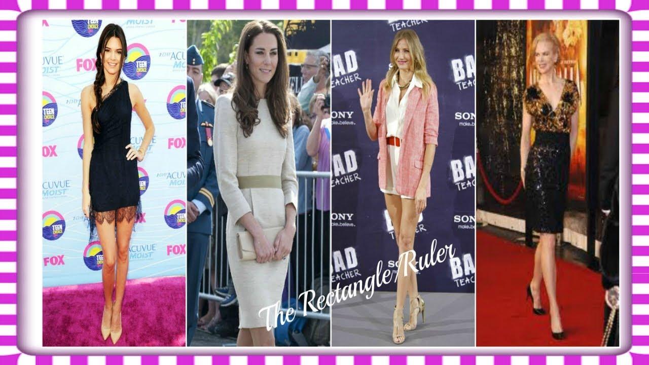 Rectangle body shape celebrities