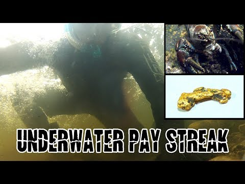 Fresh Water Lobsters And Sniping A HUGE GOLD PAY STREAK Underwater